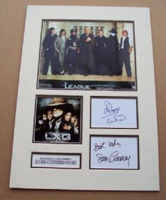 Cast x2 Signed & Mounted The League of Extraordinary Gentlemen Photo Set